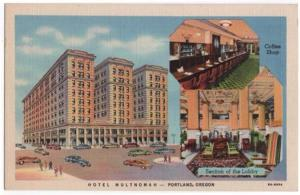 Portland, Oregon, Early Views of The Hotel Multnomah