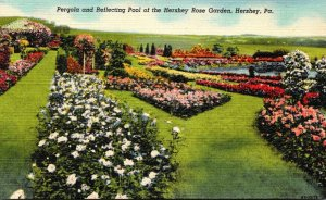 Pennsylvania Hershey Pergola and Reflecting Pool Of The Hershey Rose Garden C...