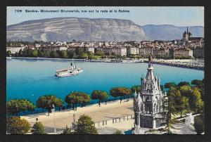 Brunswick Monument Geneva Port View Switzerland Unused c1910