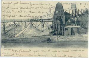 UND/B Zink Mine Carthage Missouri MO 1907