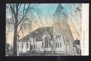 MORRIS MINNESOTA METHODIST CHURCH VINTAGE POSTCARD