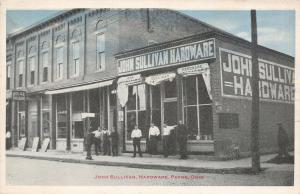 Payne Ohio~Men Hanging Out @ John Sullivan Hardware~Royal Theatre~1920s Postcard