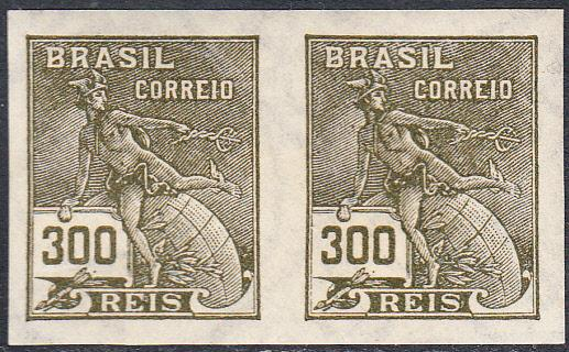 Brazil  #335 MNH Imperforate Pair
