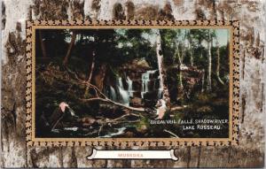 Bridal Veil Falls Shadow River Lake Rosseau Ontario ON Muskoka Postcard E32