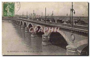 Old Postcard Bordeaux Bridge over the Garonne