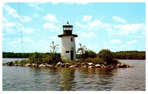 Maine  Lake Cobbosseecontee , Lighthouse