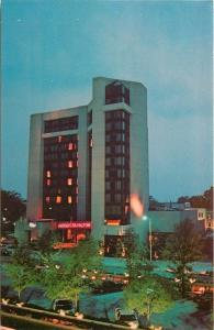 Augusta Georgia~Augusta Hilton~Night Lights~Broad Street~1960s Postcard