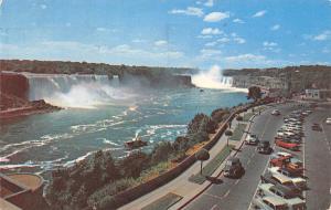 Canada Niagara Falls from Rainbow Bridge Ontario Auto Vintage Cars