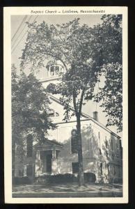 Nice Littleton,Mass/MA Postcard, Baptist Church