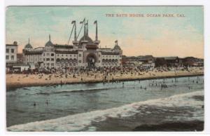 The Bath House Ocean Park Los Angeles California 1919 postcard