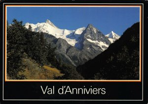 France Zinalrothorn Blanc de Moming Besso Obergabelhorn Mountains Postcard
