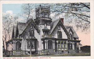 MEADVILLE, Pennsylvania, 1900-1910's; Phi Delta Theta House, Allegheny College