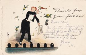 Thackeray ; Thanks for your favor , 1905 ; TUCK #2881