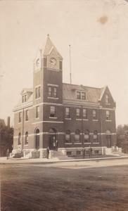 RP; Post office w/Clock Tower, Mitchell, Perth County, Ontario, Canada, PU-1914