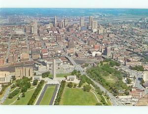 Postcard Aerial View Kansas City Missouri Heart of America # 333