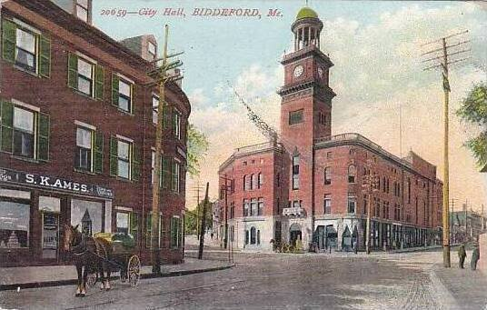 Maine Biddeford City Hall 1907