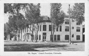 Grand Junction Colorado St Regis Street View Antique Postcard K56473
