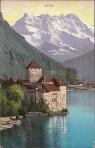Chillon Suisse lake mountain