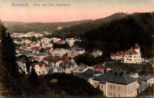 Germany Marienbad Blick Vom Cafe Egerlaender 1909