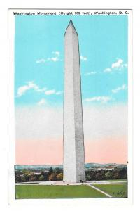 Washington DC Washington Monument B S Reynolds Postcard