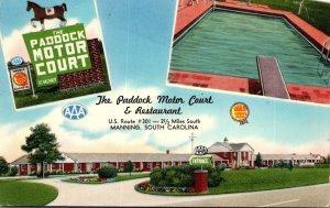 South Carolina Manning The Paddock Motor Court & Restaurant 1959