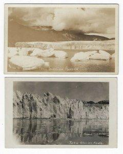 (2) Diff. RPPC's, Early Views of Taku Glacier, Alaska