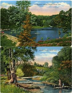 (2 cards) Beautiful Brown County State Park - Indiana pm 1969