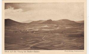 Zeppelin Postcard Germany Aerial View Gustav Eyb - Yburg Castle Baden Baden