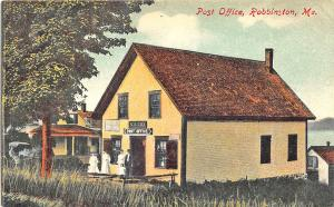 Robbinston ME Post Office S.E. Cox Store in 1908 Postcard