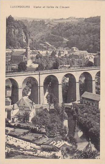 Viaduc Et Vallee De Clausen, Luxembourg, 1900-1910s