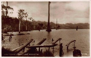 Ghana Gold Coast Lake Bosomtwi real photo Postcard
