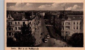 Blick in die Moltkestrasse,Steetin,Poland BIN