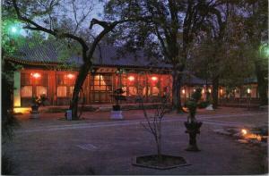 Night View Yang Yuan Hall Beijing China Diaoyutai State Guesthouse Postcard F6