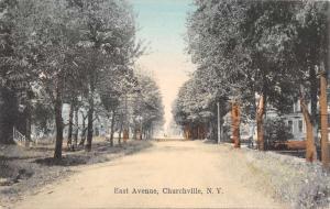 Churchville New York East Avenue Street Scene Antique Postcard K85373