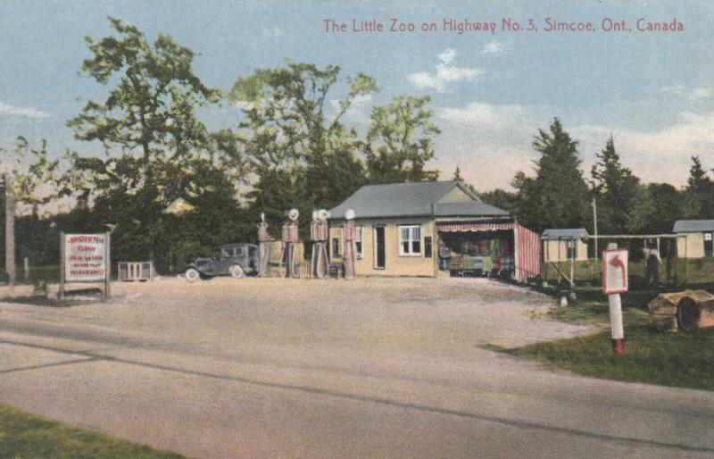 SIMCOE , Ontario , Canada , 1910-20s ; Little Zoo Gas Station