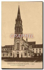 Postcard Abbey Great hatch L & # 39eglise Soligny la Trappe