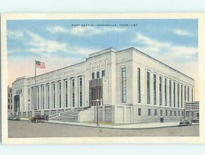 Linen POST OFFICE SCENE Nashville Tennessee TN d8890