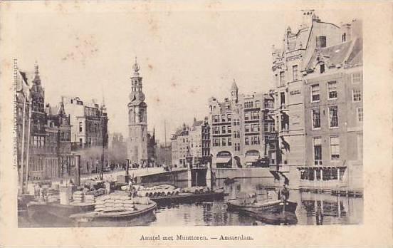 Amsterdam, North Holland, Netherlands, 00-10s, Amstel met Munttoren