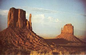Monument Valley, Arizona/AZ Postcard, Left & Right Mittens