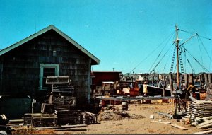 Rhode Island Watch Hill Lobster Traps and Fishing Dragger