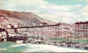 Washington Grand Coulee Dam Under Construction