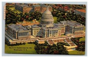 Vintage 1955 Postcard Aerial View of the U.S. Capitol Building Washington DC