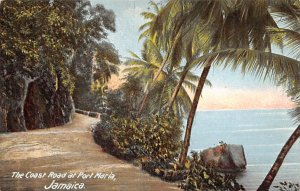 Jamaica, Jamaique Post card Old Vintage Antique Postcard The Coast Road Port ...