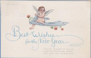 NEW YEAR; PU-1916; Best Wishes For The New Year, Angel