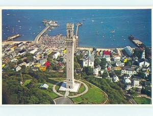 1980's AERIAL VIEW Cape Cod - Provincetown Massachusetts MA A5335