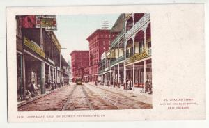 P1030 old private mail card charles st.& hotel store signs trolly new orlean
