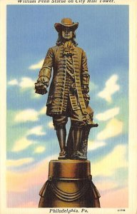 William Penn Statue, City Hall Tower  Philadelphia, Pennsylvania PA