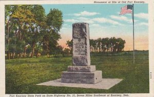Nebraska Kearney Monument At Site Of Old Fort Kearney