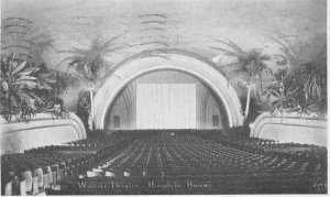 Honolulu Hawaii Waikiki Theater Interior 1943 Postcard 6943