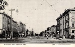 Iowa City IA~Washington Street~Drug Store~Groceries~1908 CU Williams Photoette